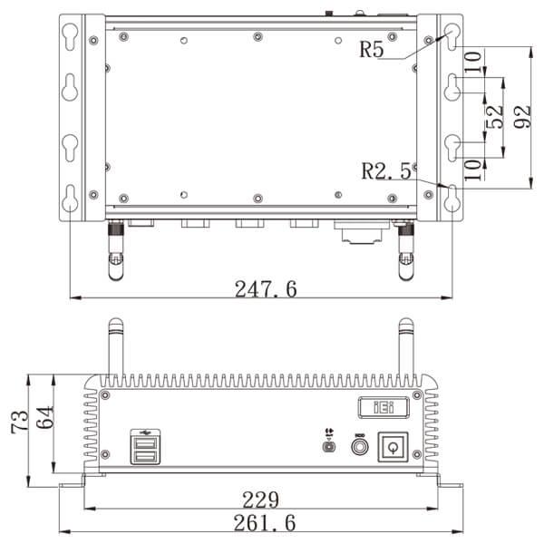 ECW-281B-QGW-embedded-system-dimension