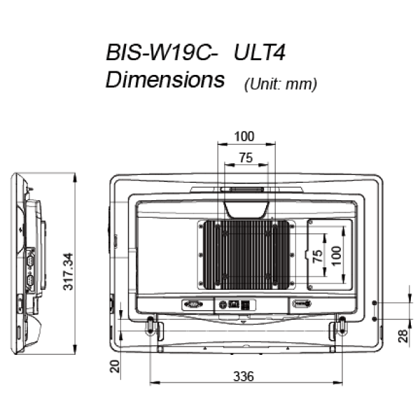 BIS-W19C-ULT4-dimension