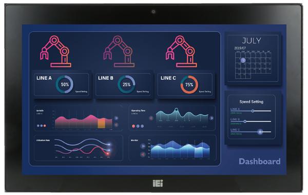 IEI AFL3-W15A-AL PoE Power Supply Industrial Panel PC