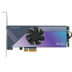 Mustang-T100-T5 Computing Accelerator Card with 5 x Google Coral edge TPU, PCIe Gen2 x4 interface