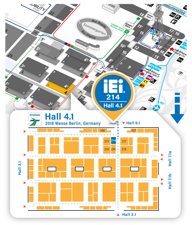 2018 InnoTrans- IEI Map