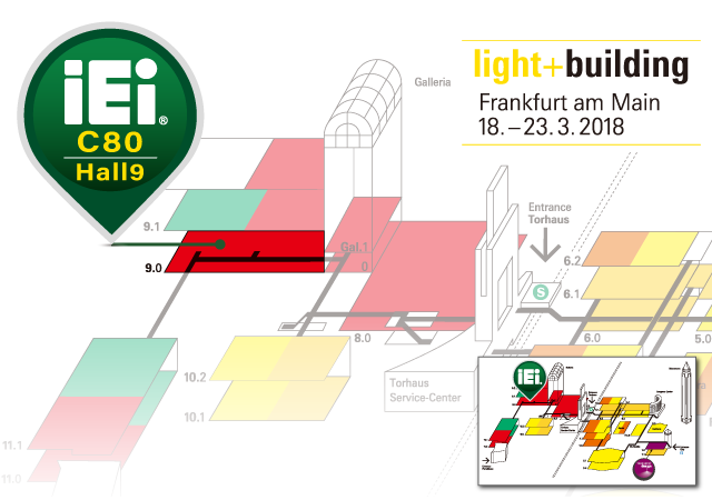 Light+Building 2018 - IEI map