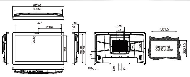AFL3-W22C-panel-pc-dimension