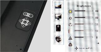 OSD Keypad on Back