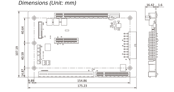 New_Graphics_Grade_Backplanes_Embedded_Computer_Single_Board_Computer_Backplane_HPE2-3S1-R10_Dimensions