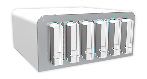 6-Slot Battery Charging Station