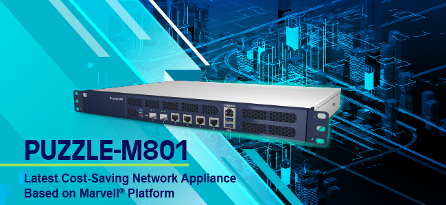 PUZZLE-M801 network appliance for cyber security