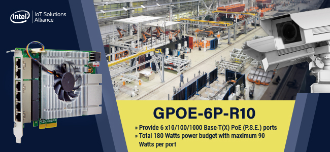 GPOE-6P Add-on Card for smart factory automation