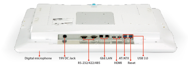 POCm Series panel PC I/O Interface