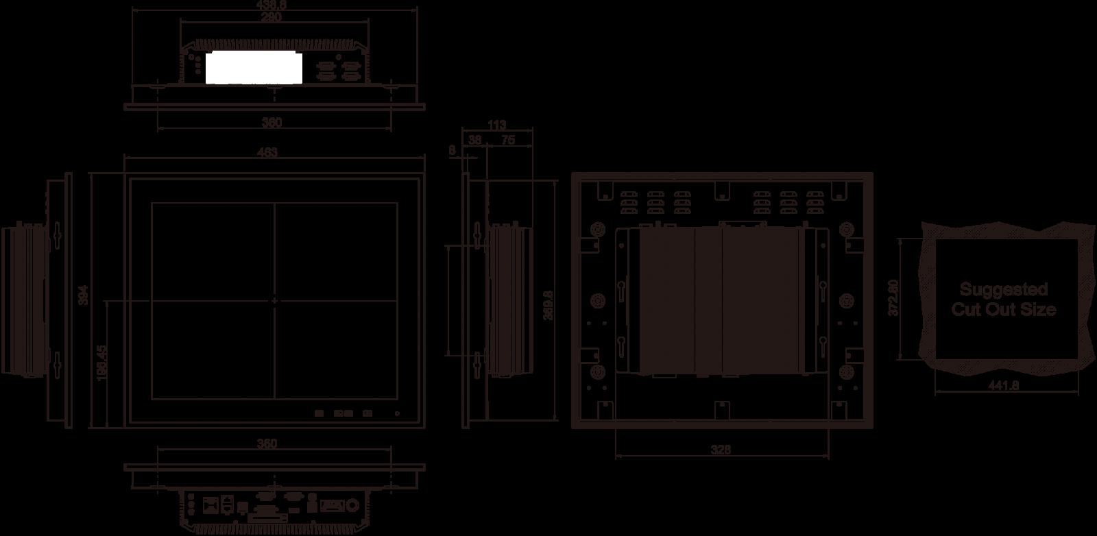marine-panel-pc dimensions