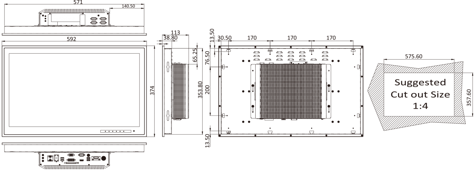 marine-panel-pc dimensions