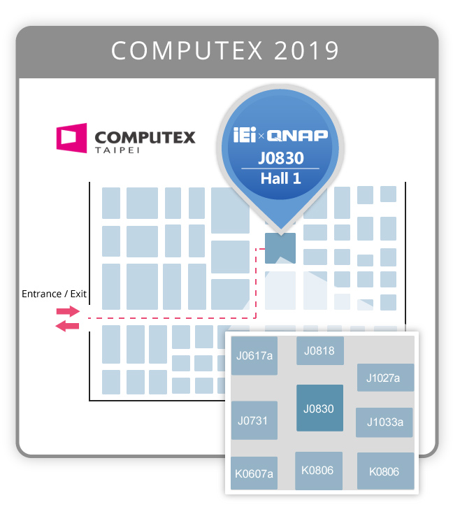 Computex 2019 IEI X QNAP MAP