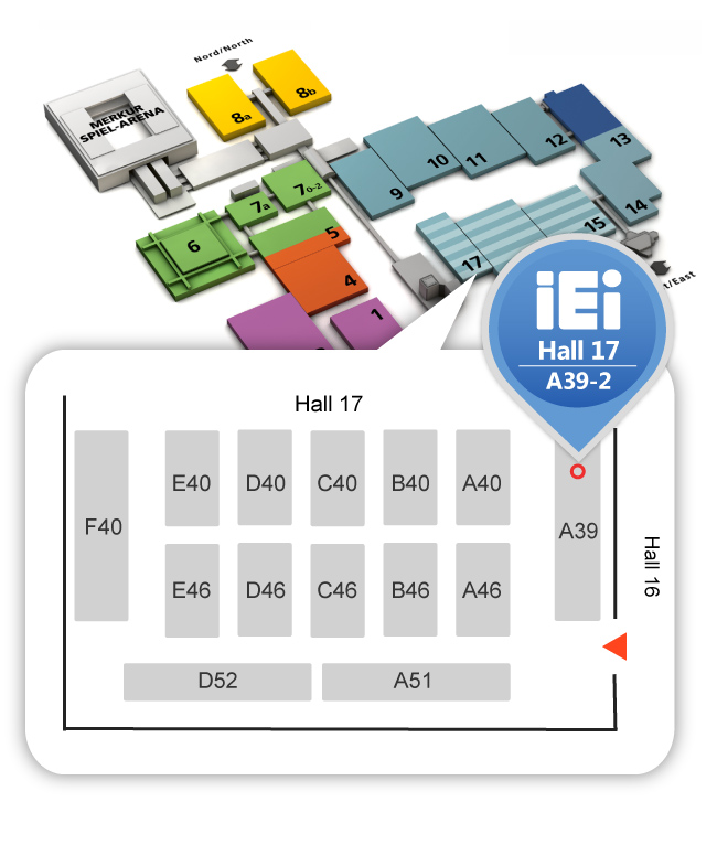 IEI medical computer at medica 2019 in Germany