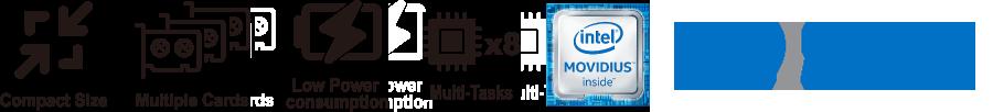 IEI Mustang-V100-MX8 VPU base AI edge computing solution   Powered